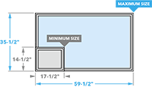 size chart image for 350 awning window
